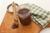 Homemade barecue sauce in jar