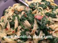 Spinach Fettuccine plated WM