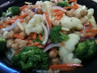 BroccoliCauliflowerChickpeaSalad