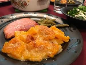 butternut squash casserole plated