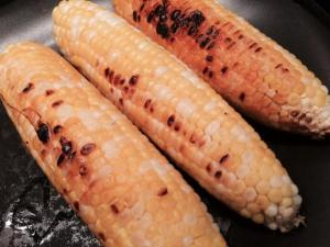 Grilled Corn shucked