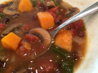 KaleShroomBlackBeanSoup