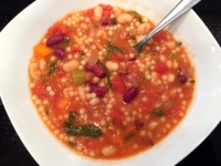 Minestrone with spinach