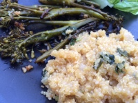 Quinoa Garlicky vegetarian