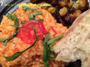 tomato basil risotto plated WM