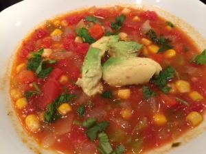 corn tomato chile soup