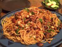 spaghetti mushrooms garlic bread crumbs 2