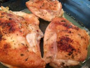 baked chicken pieces