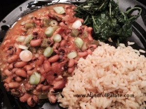 Black Eyed Peas rice kale WM