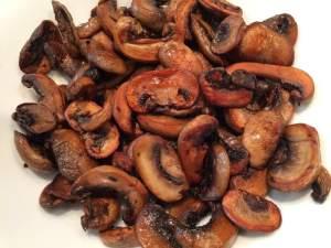 mushrooms browned