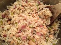 pancetta white bean rice 1
