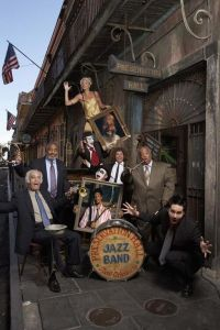 Preservation Hall Jazz Band pose for a Creole Christmas