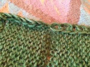 slipped stitch edge