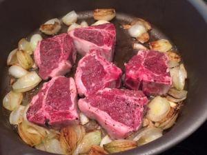 lamb loin onions