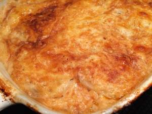 Scalloped Jarlsberg potatoes