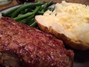 steak potato green beans