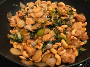 cashew chicken regular bok choy
