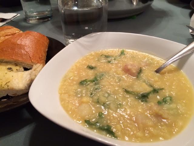 Cauliflower, Potato, and Arugula Soup
