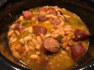 Mayocoba beans sausage