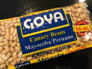 Mayocoba canary beans